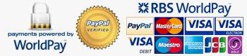 Worldpay and card logos