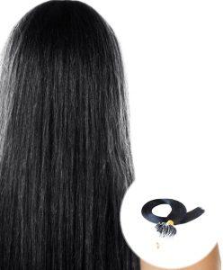 Micro Loop Ring Hair Extensions Jet Black