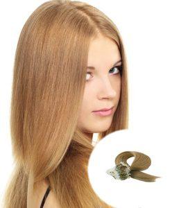 Micro Loop Hair Extensions Light Golden Brown