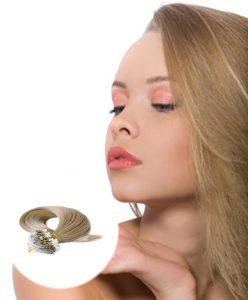 Micro Loop Hair Extensions Ash Blonde