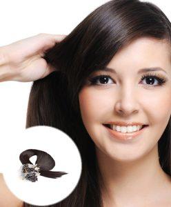 Micro Loop Ring Hair Extensions Darkest Brown