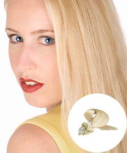 Micro Loop Hair Extensions Light Blonde