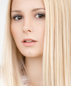 Young blonde, natural beauty