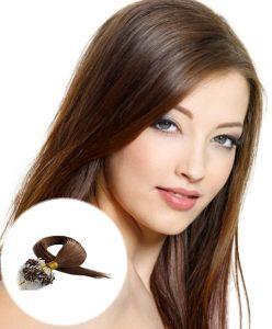 Micro Loop Ring Hair Extensions Medium Brown