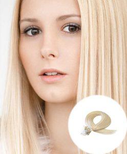 Micro Loop Hair Extensions Bleach Blonde