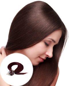 Micro Ring Hair Extensions Dark Wine