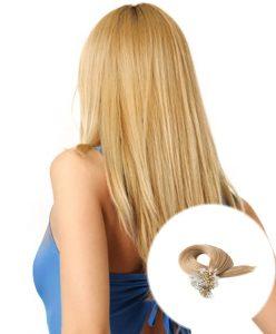 Micro Loop Hair Extensions Strawberry Blonde