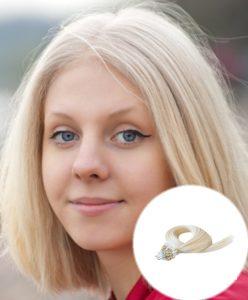 Micro Loop Hair Extensions Platinum Blonde