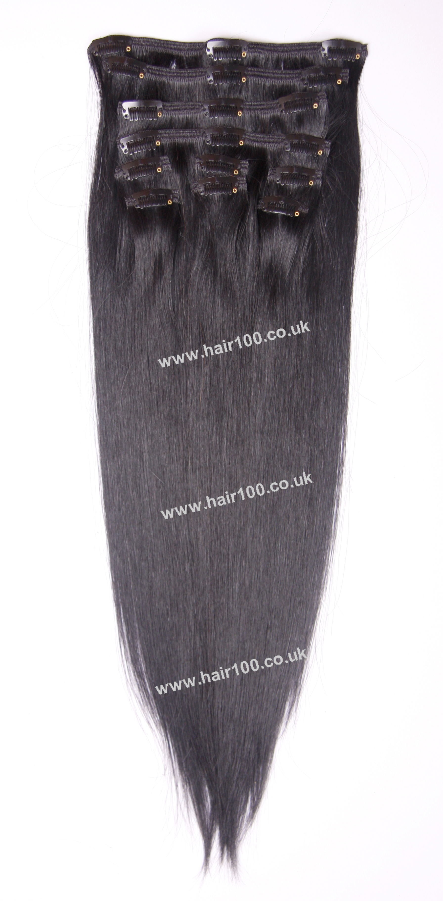 clip in hair extensions jet black