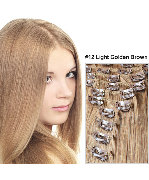 Clip In Hair Extensions Light Golden Brown Is Available From Hair100