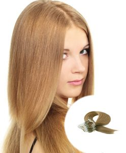 Micro Loop Hair Extensions Light Golden Brown