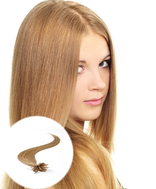 pre bonded hair extensions Light Golden Brown