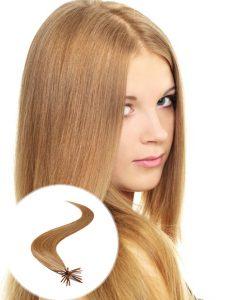 stick tip pre bonded hair extensions light Golden brown