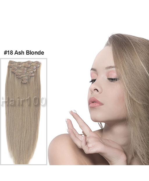 Clip In Hair Extensions Ash Blonde Is Available From Hair100 Now