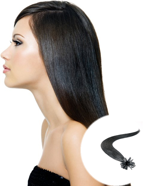 pre bonded hair extensions natural black