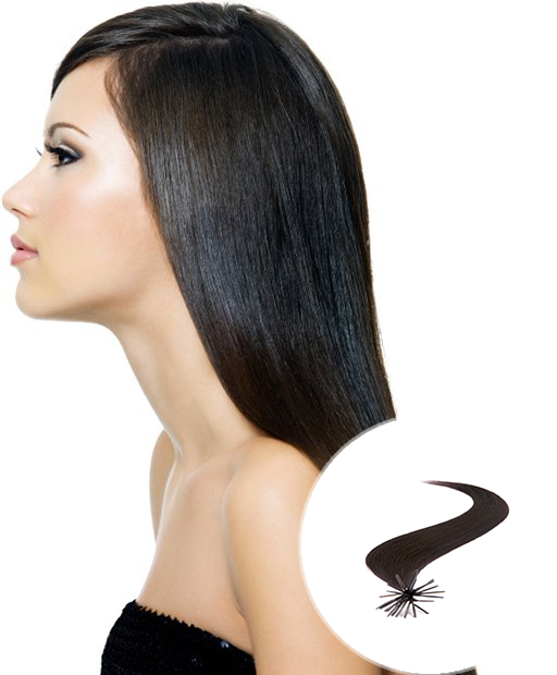 stick tip pre bonded hair extensions natural black