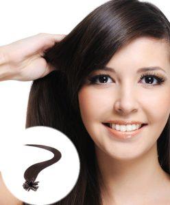 pre bonded hair extensions Darkest Brown