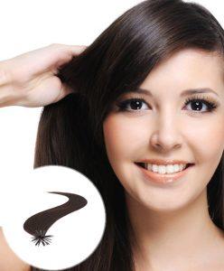 Stick Tip Pre Bonded Hair Extensions Darkest Brown