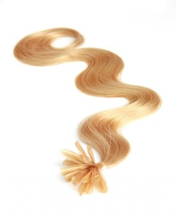 nail tip body wave pre bonded hair extensions medium blonde
