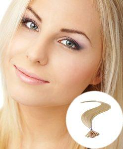 stick tip pre bonded hair extensions Medium Blonde