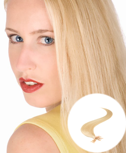 stick tip pre bonded hair extensions Light Blonde