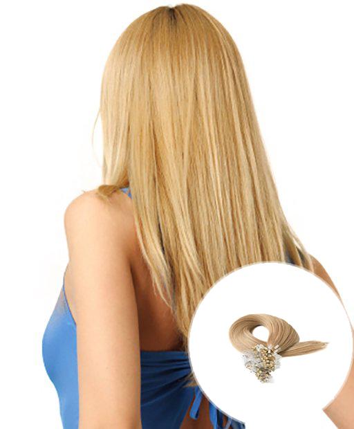Micro Loop Hair Extensions Strawberry Blonde Hair 100