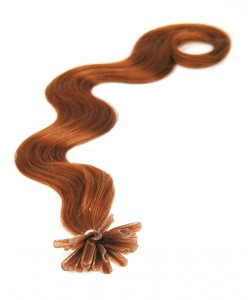 nail tip body wave pre bonded hair extensions auburn