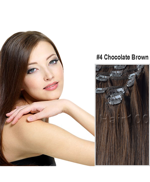 Clip In Hair Extensions Chocolate Brown Is Available From Hair100 Now