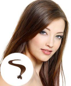 pre bonded hair extensions Medium Brown