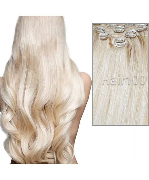 Clip In Hair Extensions Platinum Blonde Is Available From Hair100 Now