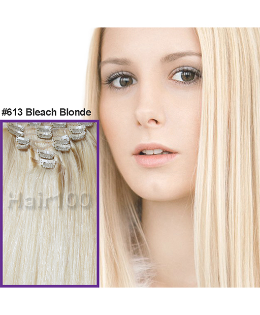 Clip In Hair Extensions Bleach Blonde Is Available From Hair100 Now