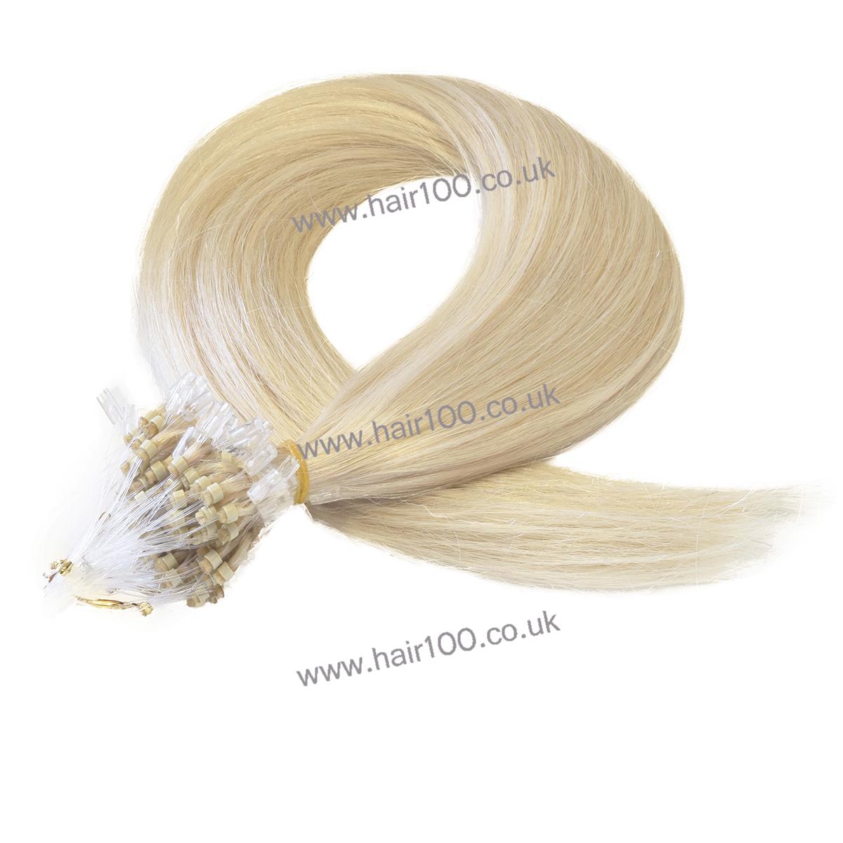 hair100 micro loop ring hair extensions -613
