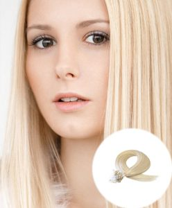 Micro Loop Hair Extensions Bleach Blonde