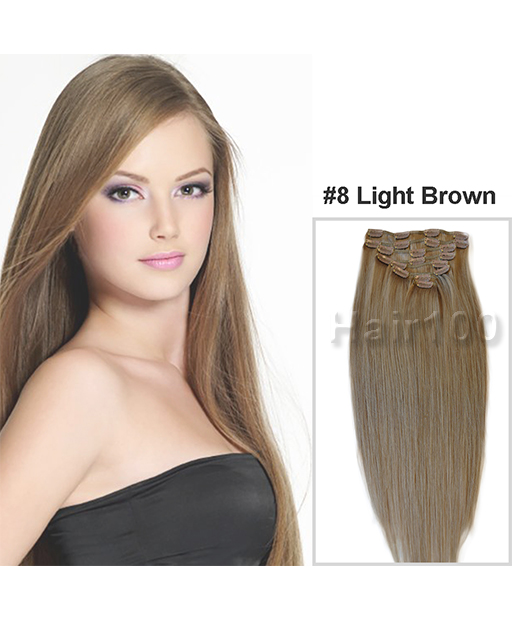Clip In Hair Extensions Light Brown Is Available From Hair100 Now