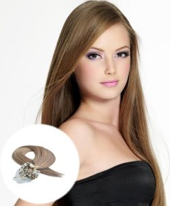 Micro Loop Hair Extensions Light Brown