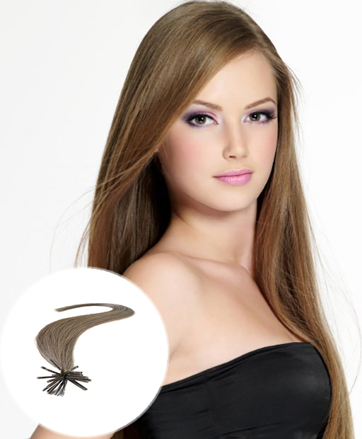 stick tip pre bonded hair extensions light brown