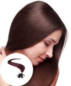 stick tip pre bonded hair extensions Dark Wine