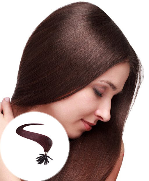 stick tip pre bonded hair extensions Dark Wine