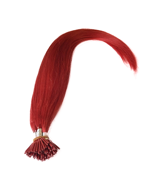 stick tip pre bonded hair extensions Red