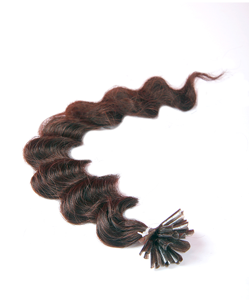 deep wave pre bonded hair extensions chocolate brown